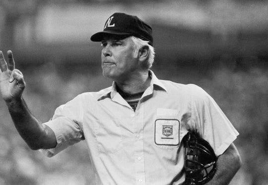 Umpire Doug Harvey.