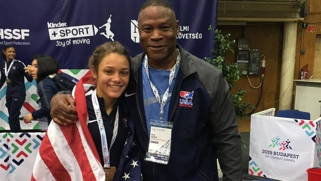 Olivia Messerly with Team USA