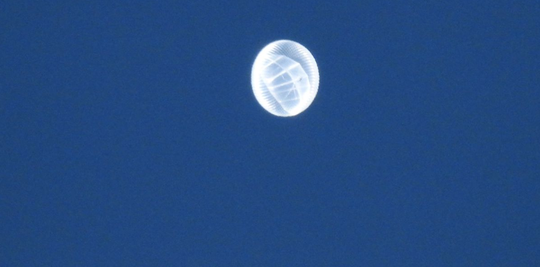 The balloon spotted in Oxford Tuesday is from a company called Loon, which aims to help people get internet after natural disasters.