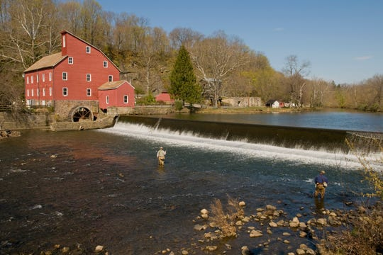 A photo of the Clinton Mill, a source of drinking water that Raritan Headwaters protects.