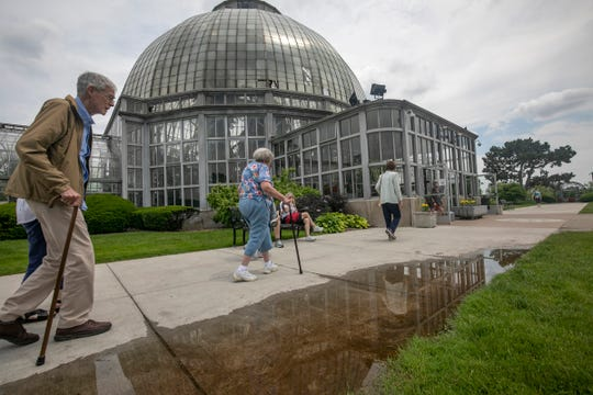Tour groups, Metro Detroiters and out-of- towners, came out to enjoy the opening of the Anna Scripps Whitcomb Conservatory on Belle Isle on Wednesday, June 19, 2019.