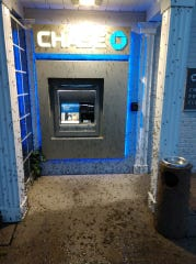 Fish flies swarm an ATM machine near Grosse Point, MI, in June.