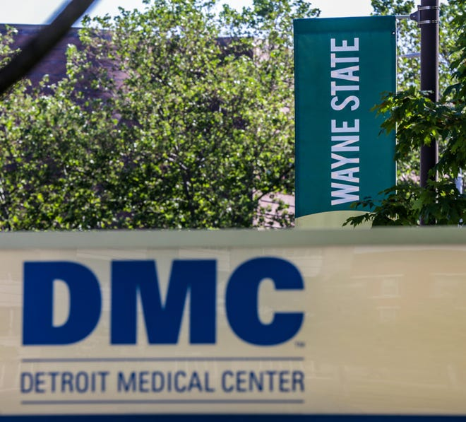 The Wayne State University medical school campus is located right next to the Detroit Medical Center campus in midtown Detroit, photographed on Friday, June 14, 2019.