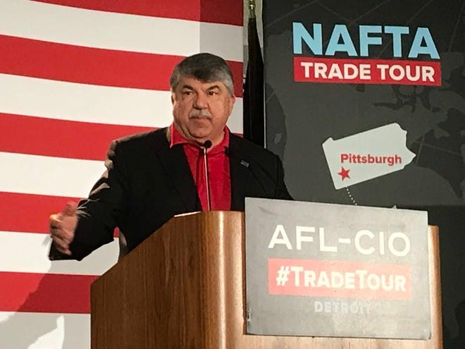 AFL-CIO President Richard Trumka told union members in Taylor, Mich., Wednesday that negotiators need to make changes to the replacement for NAFTA to gain union support for the trade deal.