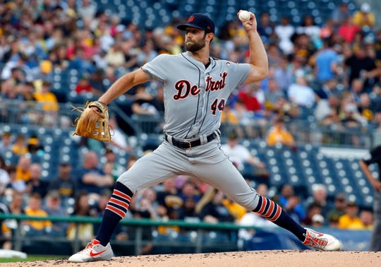 Daniel Norris #44 of the Detroit Tigers pitches in the first inning against the Pittsburgh Pirates during inter-league play at PNC Park on June 18, 2019 in Pittsburgh, Pennsylvania.