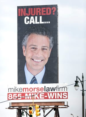 A Mike Morse billboard is seen near 8 Mile from Detroit into Ferndale on Tuesday, May 22, 2018.