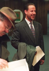 Steve Wasko, right, former executive director of enrollment for Detroit Public Schools Community District in a 1996 file photo.