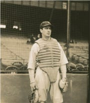 Cerebral catcher Moe Berg played 15 seasons of Major League Baseball for the Boston Red Sox and Brooklyn Dodgers, among others.