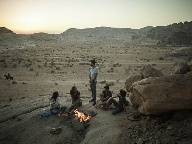 """This undated photo provided by Netflix shows a scene from the series """"Jinn."""" By global Netflix standards, its first original Arabic series """"Jinn"""" hardly pushes the envelope. But when the show debuted worldwide last week, many Jordanians were shocked and appalled by a program that they say violates the country's conservative norms."""