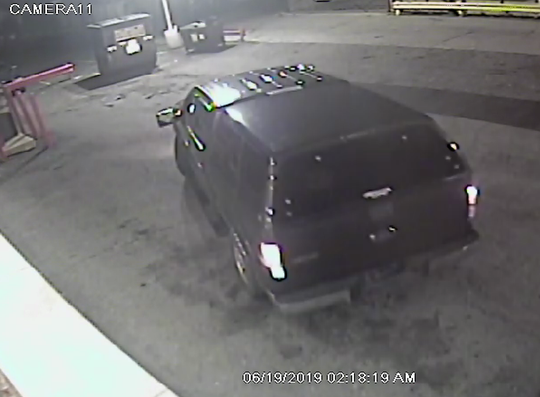 The suspects are believed to have fled in a black Ford 150.