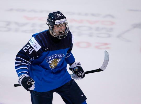 Finland's Kaapo Kakko saw his stock rise during the world championships.