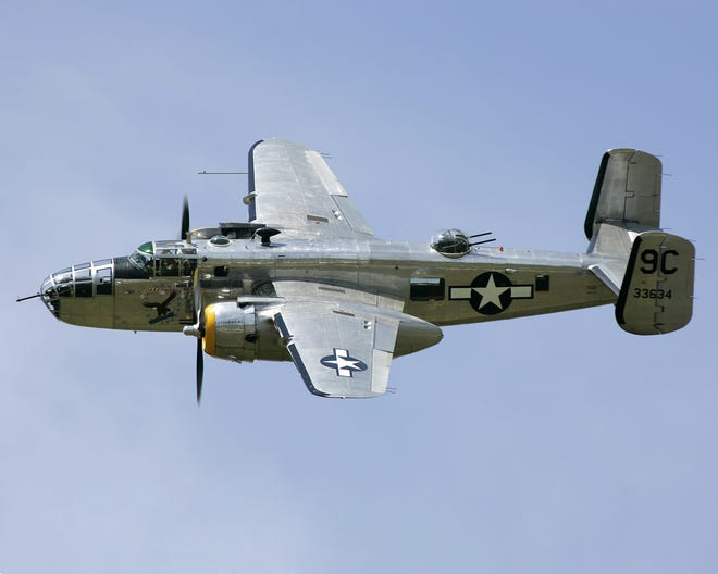A B-25D Mitchell - Yankee Warrior is one of the vintage World War II planes that will do a flyover ahead of the Ford Fireworks in Detroit on June 24, 2019.