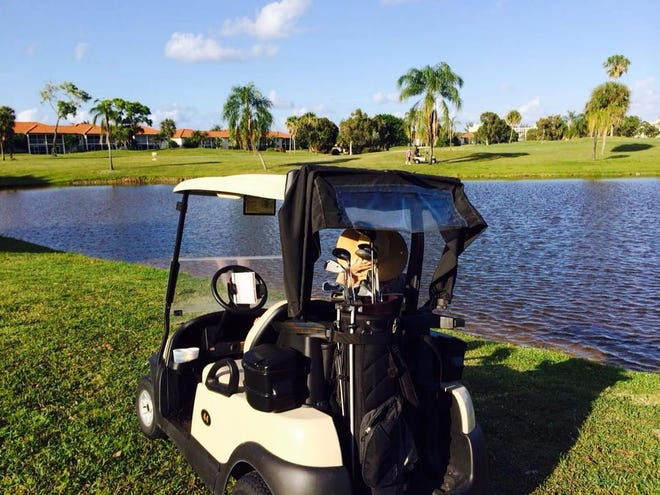 The Ocean Breeze Golf Club in Boca Raton, Florida is seen before its foreclosure in 2016.  Pieces of James Scandirito's dismembered body were found inside plastic bags buried in a shallow grave at the closed golf club in 2018.