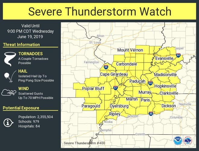 Severe thunderstorm watch area