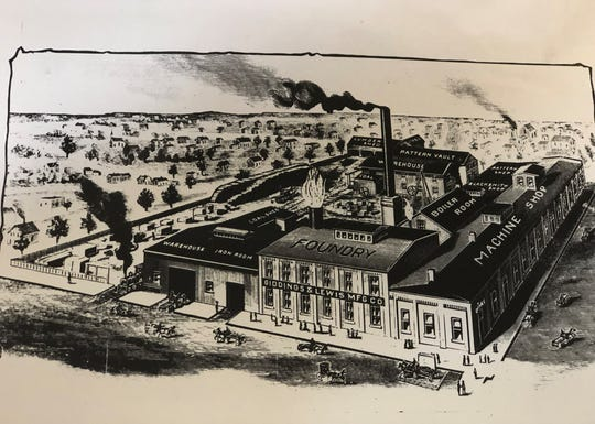 A sketch of what is now called the Fives Giddings & Lewis facility from 1897.