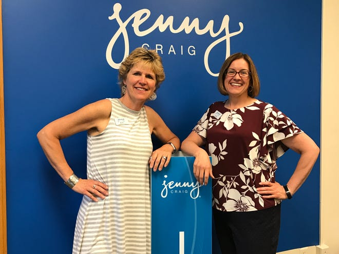 Kathy Workman and Noelle Johnson in their new Jenny Craig franchise in the Columbus Center Suite 105.