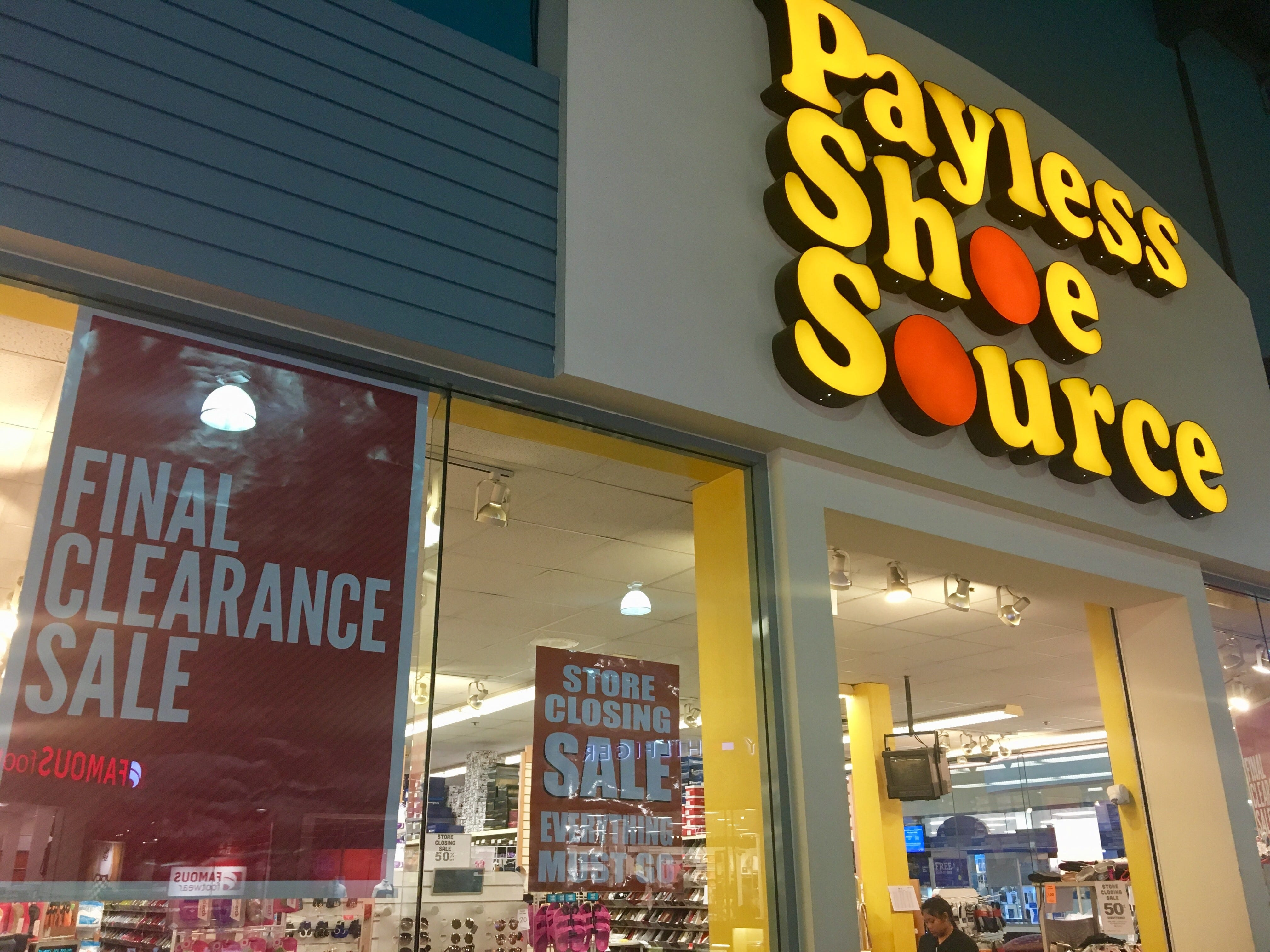 Payless ShoeSource stores at Guam Premier Outlets and Micronesia Mall are set to close, both currently hosting clearing out sales for customers.Store officials are not able to comment when the shops will officially close.