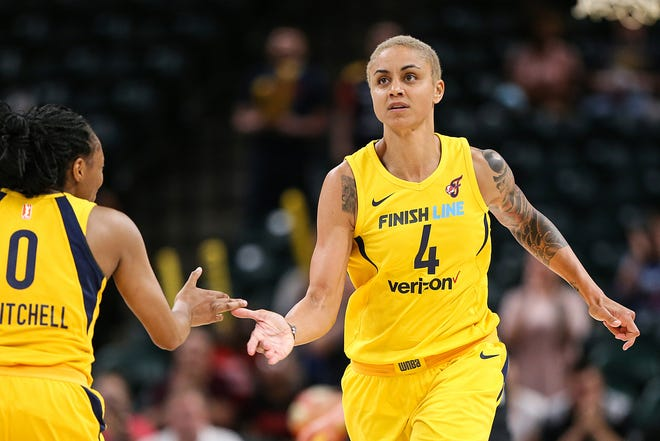 FILE – Candice Dupree (4) led the Fever with 19 points in a loss to Atlanta on Wednesday.