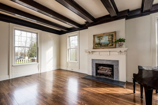 The living room at 4024 Kingston Pike, restored to its century-old glory.