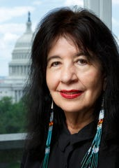 Joy Harjo, poet laureate of the United States. She was a professor at the University of Tennessee-Knoxville.