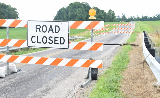 Richland Road is closed east of Pleasantville after unseasonably high rains washed out a culvert near the 4000 block. Jason Grubb, superintendent of road maintenance for Fairfield County, said this was the worst washout so far this year.
