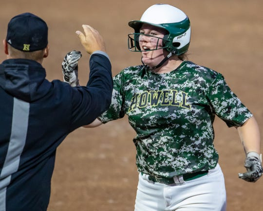 Howell's Maddie Gillett hit .556 with 16 homers and 65 RBI.