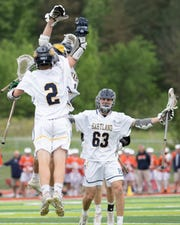Hartland celebrated 88 boys lacrosse victories in 102 games during Garnet Potter III's five seasons at the helm.