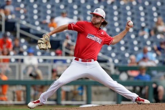 Louisville pitcher Adam Elliott