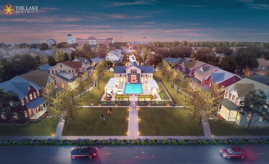 A rendering shows the Lake District development, which is in the works in Lakeland.