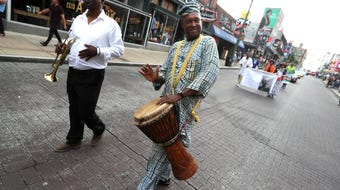 Robert Church celebrated with a birthday parade down Beale Street in downtown Memphis