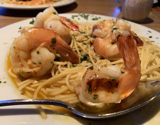 The shrimp scampi from Old Marco Pub, Marco Island.