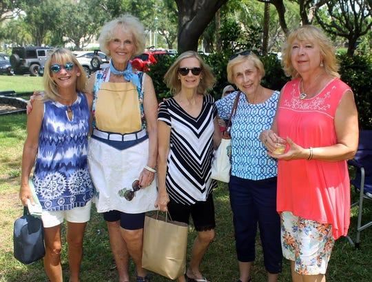 KayLee Edgar, Susie Walsh, Pat Ardidiacono, Madeline Moore, Bobbie Ordejia prepped food for the picnic.