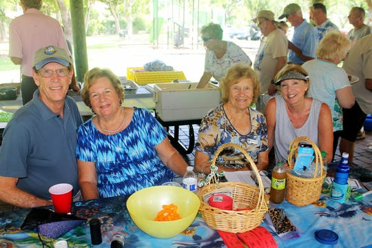 Richie and Eileen Carlsen, MaryAnn Cassidy and Etoila Bristow.