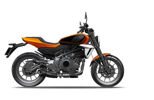 A prototype of the Harley-Davidson motorcycle to be manufactured in China with Zheijiang Qianjiang Motorcycle Co. Ltd. for sale in Asia.