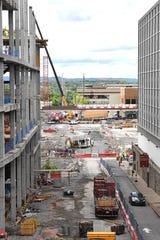 Construction on Nashville Yards Tuesday, June 18, 2019, in Nashville, Tenn.