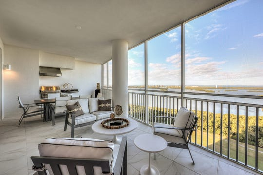 The Seaglass tower residences offer expansive views of Estero Bay and the Gulf of Mexico and feature fully-completed, ready for occupancy spaces with designer-selected premium finishes, including flooring, paint, and trim.