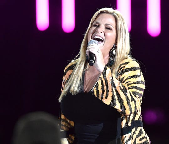 Trisha Yearwood performs during the 2019 CMA Fest Sunday, June 9, 2019, at Nissan Stadium in Nashville, Tennessee.