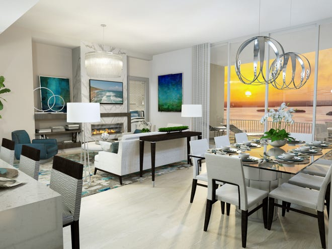 London Bay's Grandview at Bay Beach high-rise on South Fort Myers Beach will feature 58 open-concept residences ranging from 2,400 to 2,900 square feet now priced from the high-$800s.