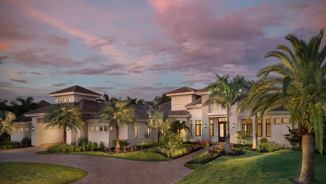 The Cortona II, by Stock Signature Homes, is one of four unfurnished models available immediately in Quail West.