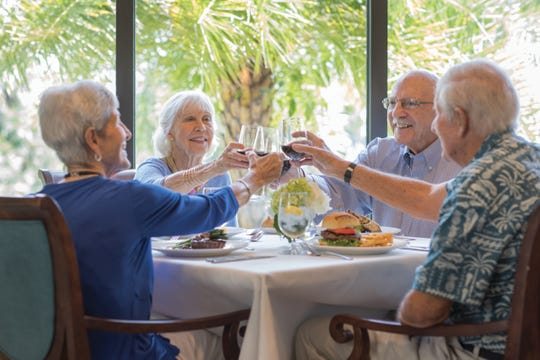 A healthy meal with friends contributes to the kind of vital, connected lifestyle that seniors crave.