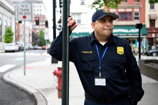 Hector Mojica, Hoboken's chief parking enforcement officer, photographed outside of Hoboken City Hall on Wednesday, June 19, 2019.