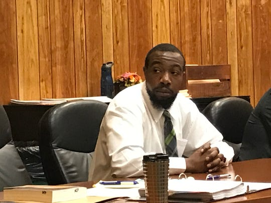 Kevaughn Wright, during a break in his trial on Wednesday.
