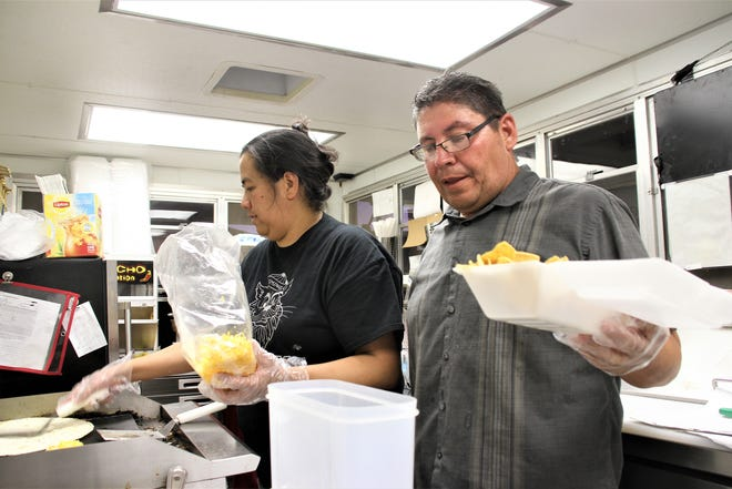 End of Trail food truck prepares a variety of quick and nutritious recipes.