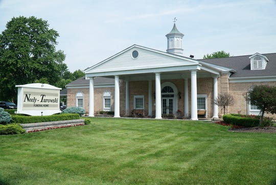 The Neely-Turowski Funeral Home at 30200 Five Mile Road in Livonia. The business has been operating in the Detroit area for 100 years and has been an in-the-family business for four generations.