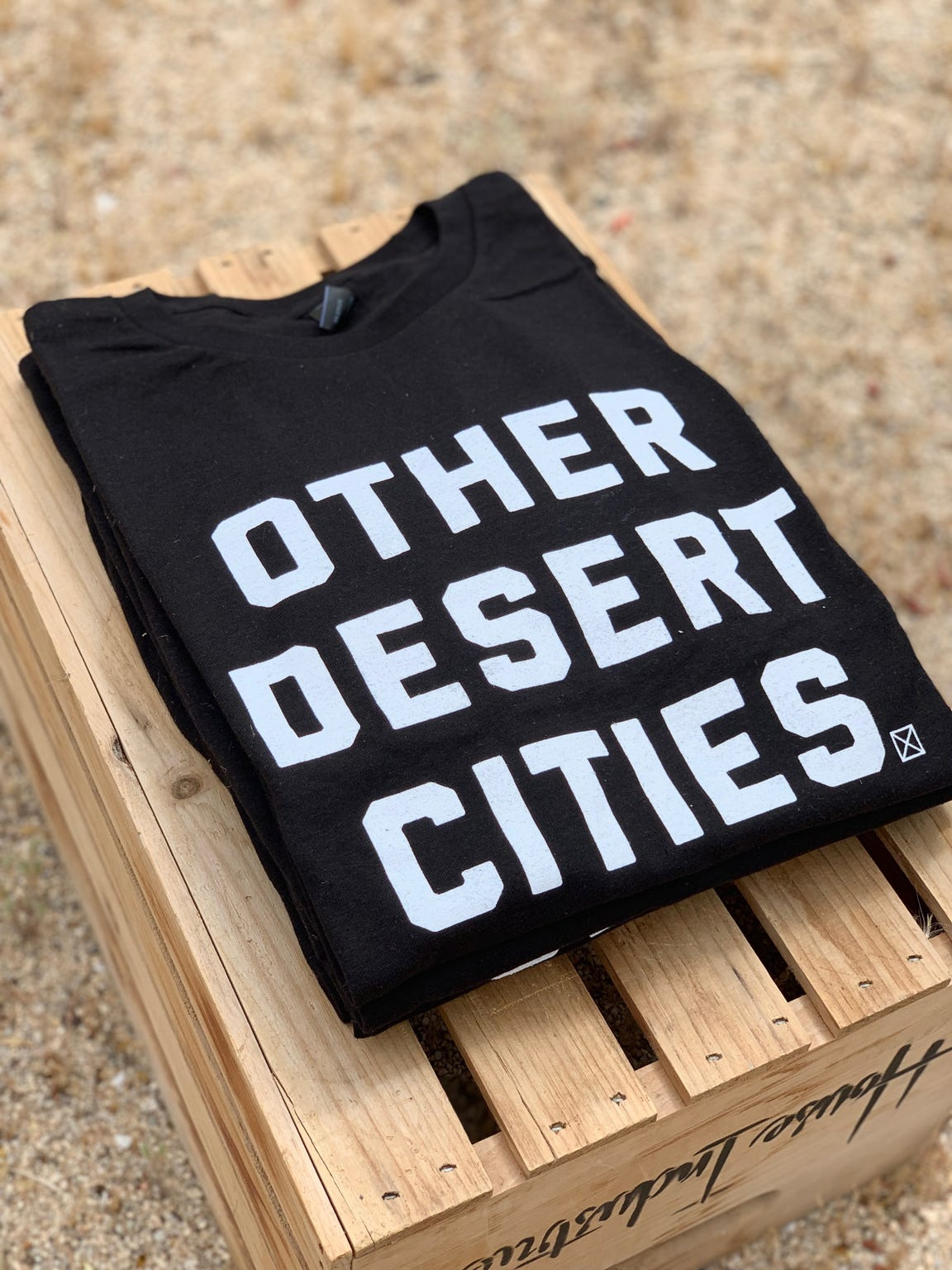 """'Other Desert Cities' T-shirt creator Dana Longuevan says she """"decided to design and print the shirts as a local pride project."""""""