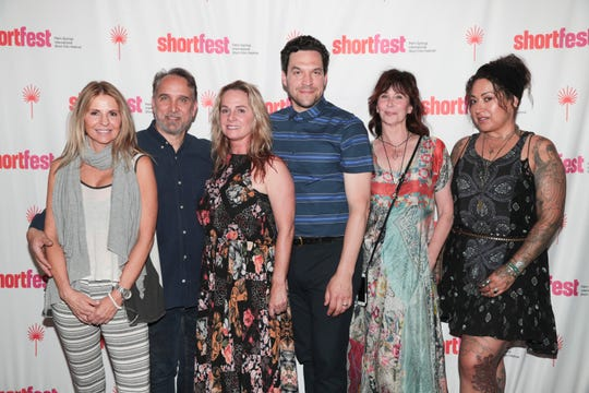 The cast of 'Men of Vision' attends the Opening Night of the Palm Springs International Short Film Festival, Palm Springs, Calif., June 18, 2019.