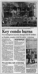 Coverage of a Perdido Key fire from the Sept. 13, 1986 edition of the Pensacola News Journal.