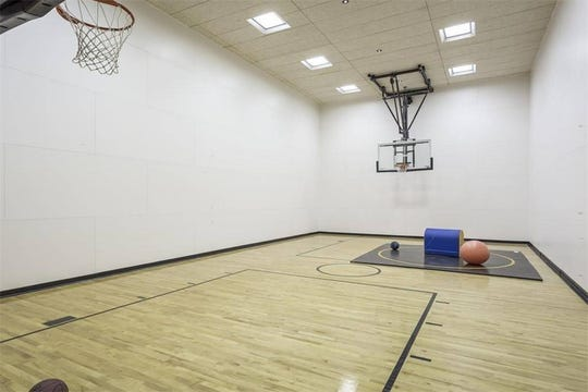 The home also has a private indoor sport court.
