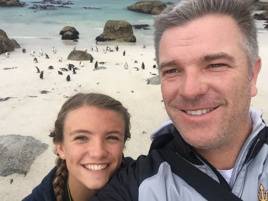 A long-promised father-daughter trip took Arizona State men's golf coach Matt Thurmond and his daughter Elizabeth, 14, to South Africa.
