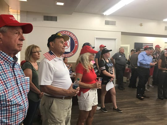 More than 100 attended the Arizona GOP's Trump re-election announcement watch party, June 18, 2019.